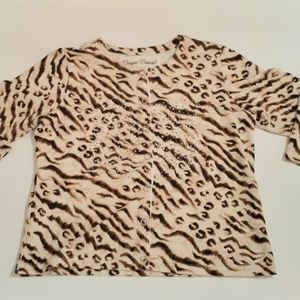 Luxury Animal Print, Snap Front, Top